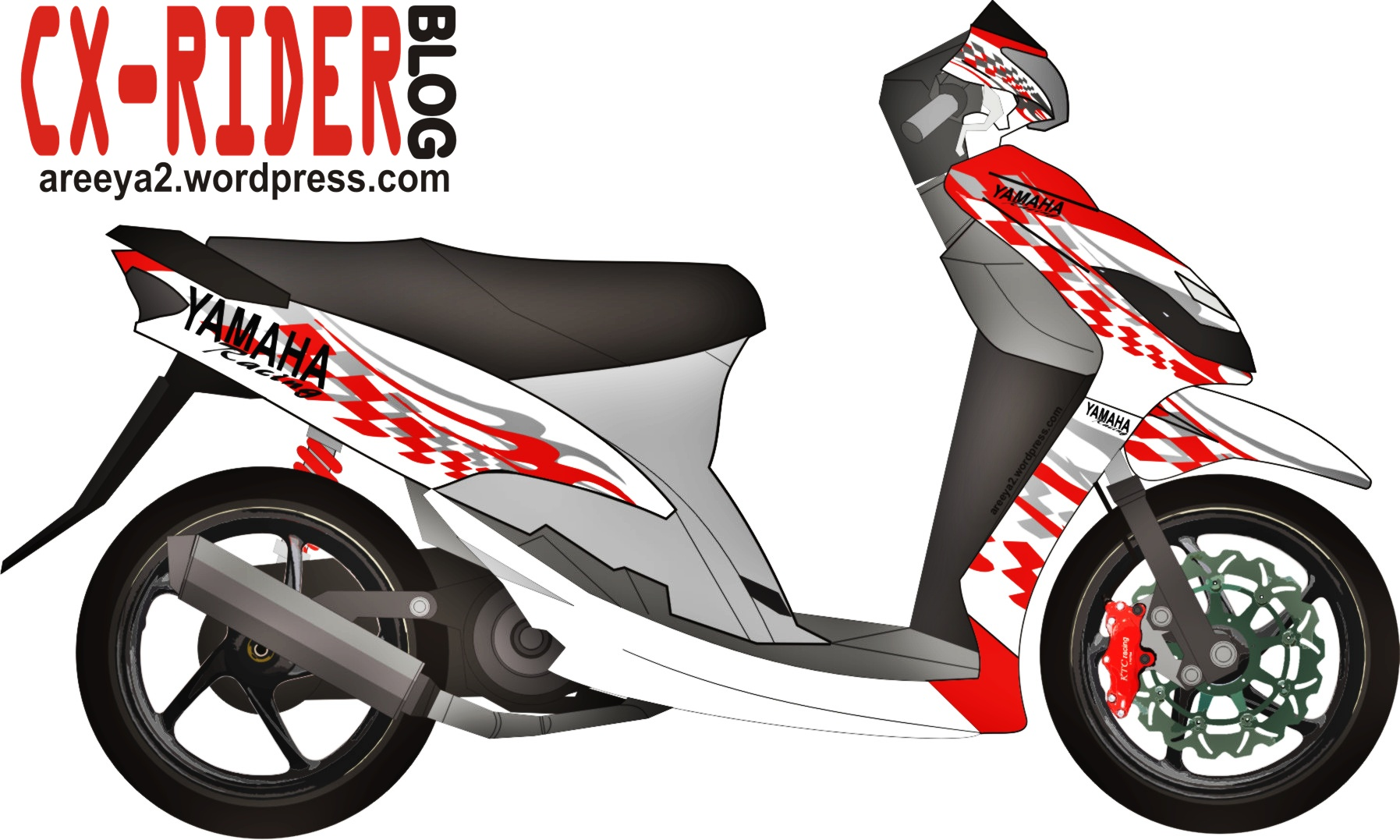 76 modifikasi motor mio cutting stiker terlengkap