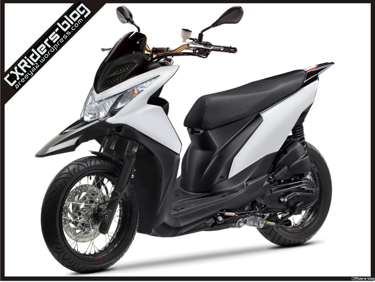 Konsep Modifikasi Honda Beat Fi Super (matic) Motard :D
