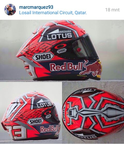 desain helm marc marquez baru. Black Bedroom Furniture Sets. Home Design Ideas